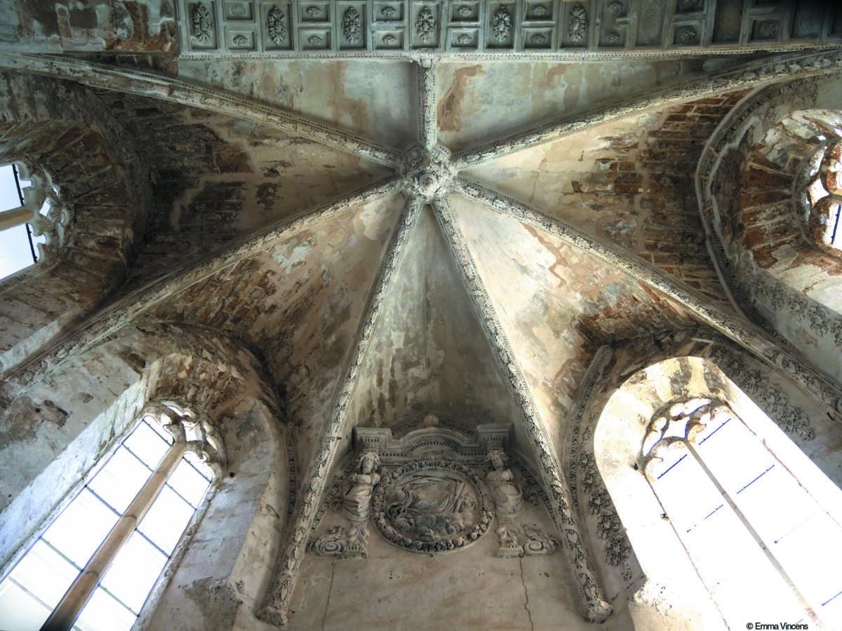 Le Chapitre( intérieur) - son plafond