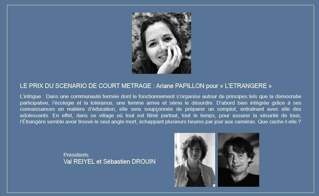 prix du scenario court metrage insolite 2019 Ariane papillon