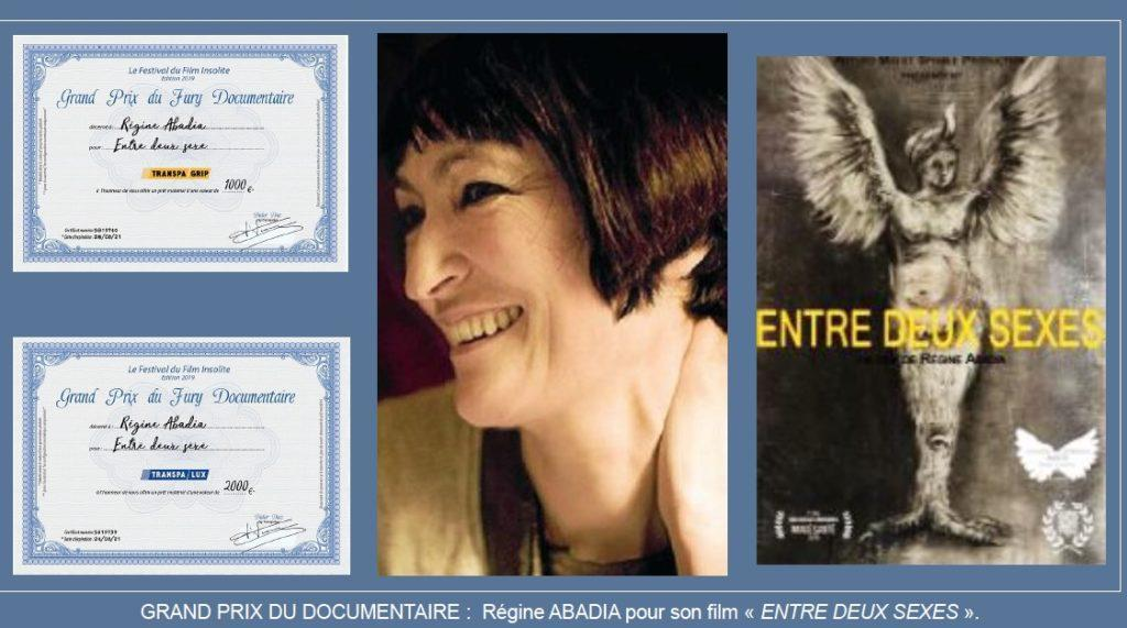 Grand prix du Jury documentaire regine abadia