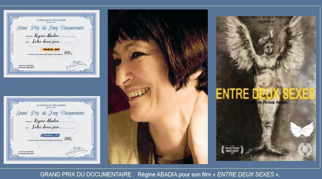 Grand prix du Jury documentaire regine  abadia