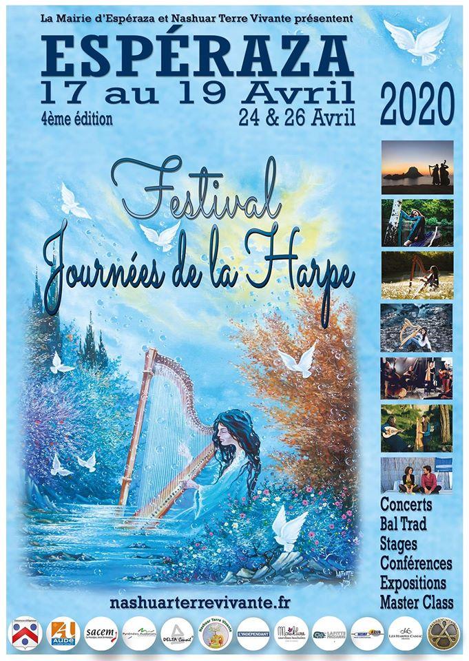 Festival Journée de la Harpe a Espéraza du 17 au 19 avril 2020