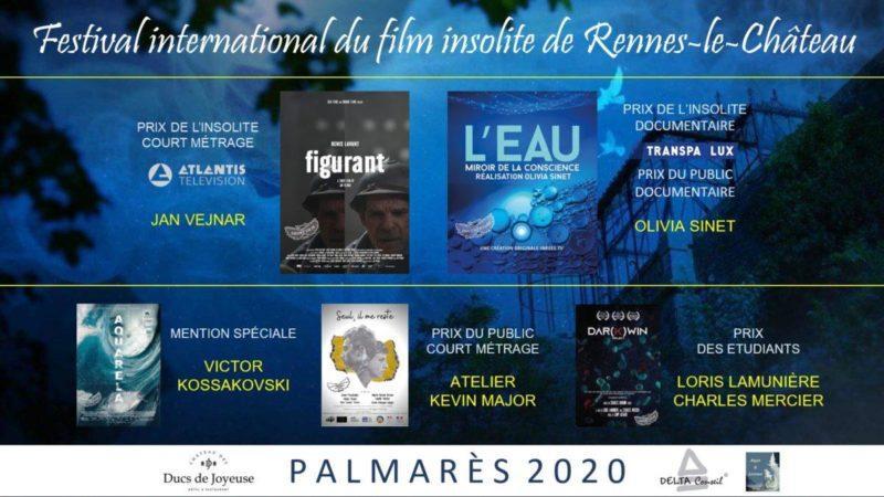 LE 6EME FESTIVAL DU FILM INTERNATIONAL DE RENNES-LE-CHÂTEAU DÉVOILE SON PALMARÈS