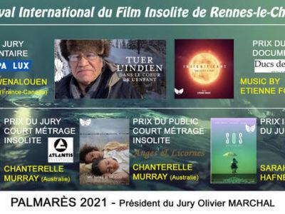 Les Prix du Festival Insolite Rennes le Château Edition 2021